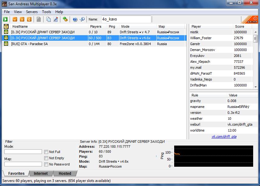 Скачать SAMP 0.3x Клиент